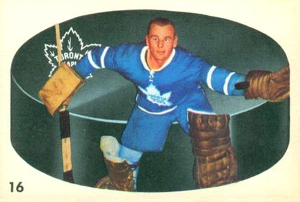 1962 Parkhurst Johnny Bower #16 Hockey Card