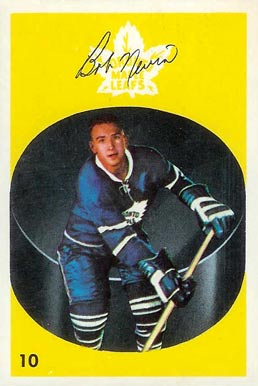 1962 Parkhurst Bob Nevin #10 Hockey Card