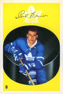 1962 Parkhurst Carl Brewer #8 Hockey Card