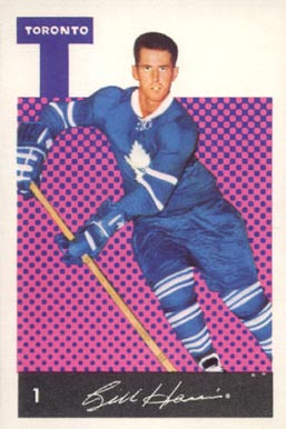 1962 Parkhurst Billy Harris #1 Hockey Card