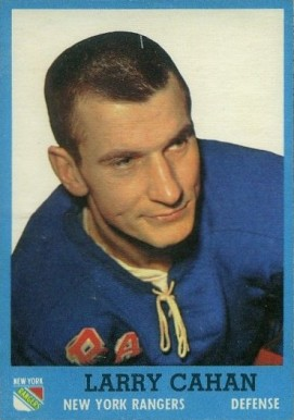 1962 Topps Larry Cahan #48 Hockey Card