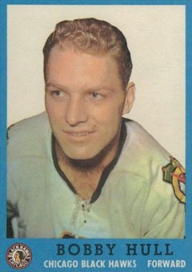 1962 Topps Bobby Hull #33 Hockey Card