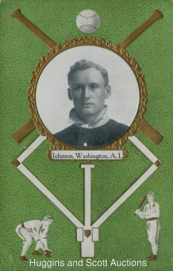 1908 Rose Company Postcards Walter Johnson #87 Baseball Card