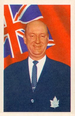 1963 Parkhurst Punch Imlach #19 Hockey Card