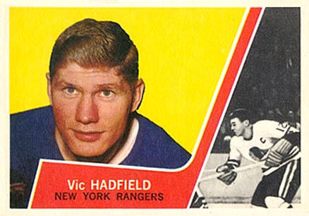 1963 Topps Vic Hadfield #54 Hockey Card