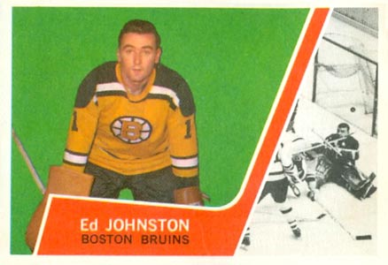 1963 Topps Ed Johnston #2 Hockey Card