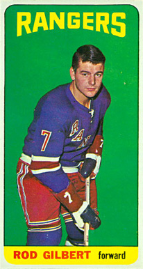 1964 Topps Rod Gilbert #24 Hockey Card