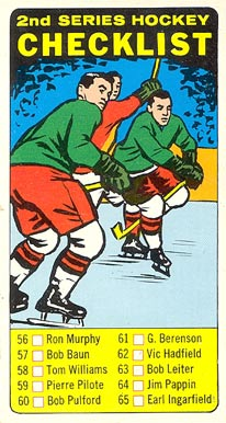 1964 Topps   #55 Hockey Card