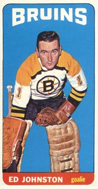 1964 Topps Ed Johnston #21 Hockey Card