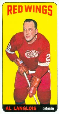 1964 Topps Albert Langlois #13 Hockey Card