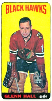 1964 Topps Glenn Hall #12 Hockey Card