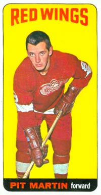 1964 Topps Pit Martin #1 Hockey Card