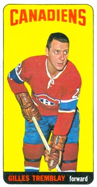 1964 Topps Gilles Tremblay #2 Hockey Card