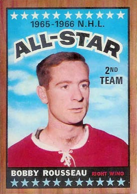 1966 Topps Bobby Rousseau #132 Hockey Card