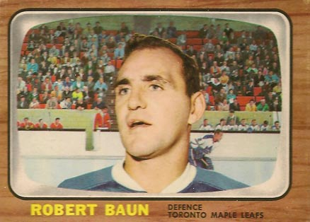1966 Topps Bob Baun #83 Hockey Card