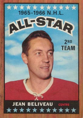 1966 Topps Jean Beliveau #127 Hockey Card