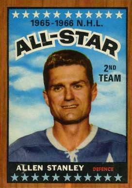 1966 Topps Allan Stanley #128 Hockey Card