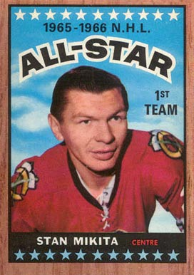 1966 Topps Stan Mikita #124 Hockey Card