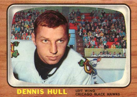 1966 Topps Dennis Hull #113 Hockey Card