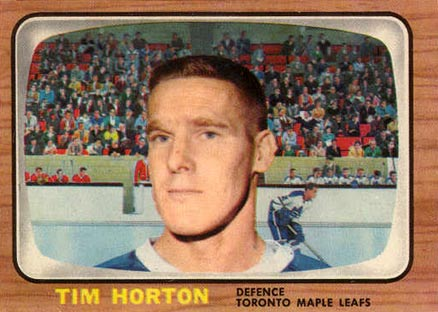 1966 Topps Tim Horton #80 Hockey Card