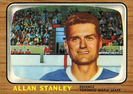 1966 Topps Allan Stanley #16 Hockey Card