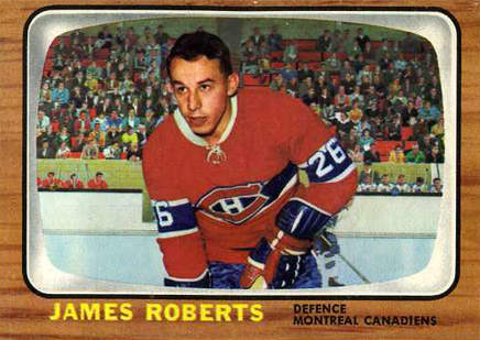 1966 Topps Jim Roberts #6 Hockey Card