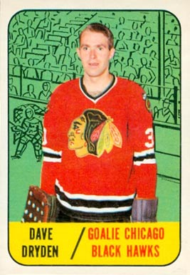 1967 Topps Dave Dryden #57 Hockey Card