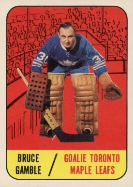1967 Topps Bruce Gamble #18 Hockey Card