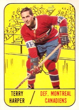 1967 Topps Terry Harper #6 Hockey Card