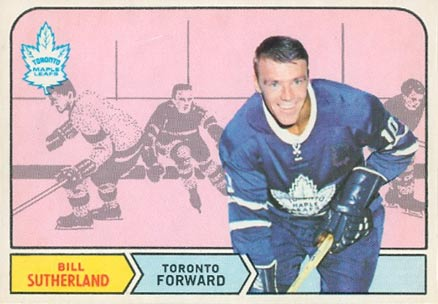 1968 O-Pee-Chee Bill Sutherland #196 Hockey Card
