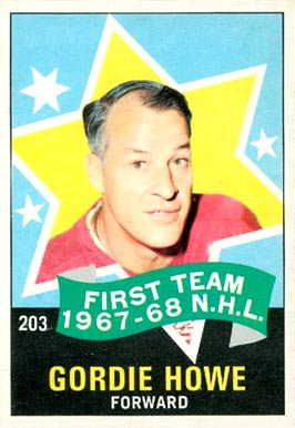 1968 O-Pee-Chee Gordie Howe #203 Hockey Card