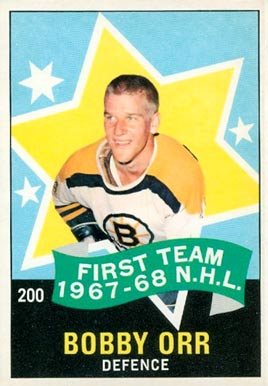 1968 O-Pee-Chee Bobby Orr #200 Hockey Card