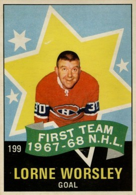 1968 O-Pee-Chee Gump Worsley #199 Hockey Card