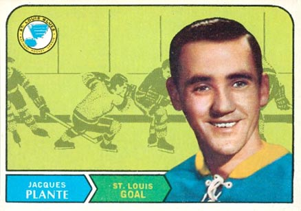 1968 O-Pee-Chee Jacques Plante #181 Hockey Card