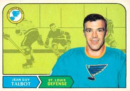 1968 O-Pee-Chee Jean-Guy Talbot #179 Hockey Card