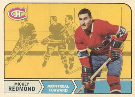 1968 O-Pee-Chee Mickey Redmond #64 Hockey Card
