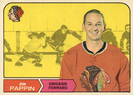 1968 O-Pee-Chee Jim Pappin #21 Hockey Card