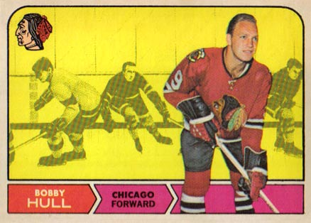 1968 Topps Bobby Hull #16 Hockey Card