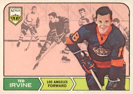 1968 Topps Ted Irvine #39 Hockey Card