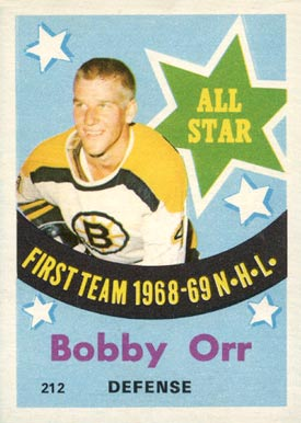 1969 O-Pee-Chee Bobby Orr #212 Hockey Card