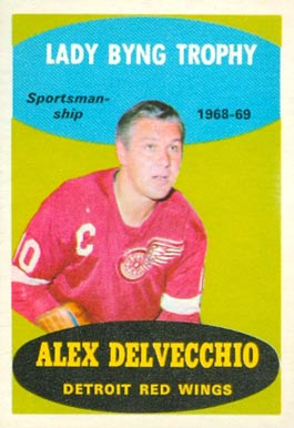 1969 O-Pee-Chee Alex Delvecchio #206 Hockey Card