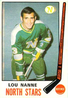 1969 O-Pee-Chee Lou Nanne #198 Hockey Card
