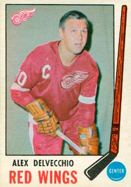 1969 O-Pee-Chee Alex Delvecchio #157 Hockey Card