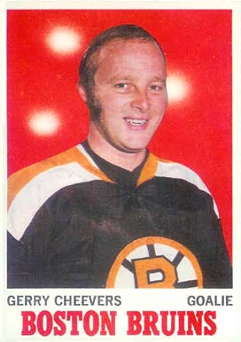 1970 O-Pee-Chee Gerry Cheevers #1 Hockey Card