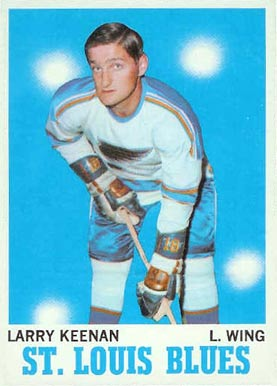 1970 O-Pee-Chee Larry Keenan #104 Hockey Card