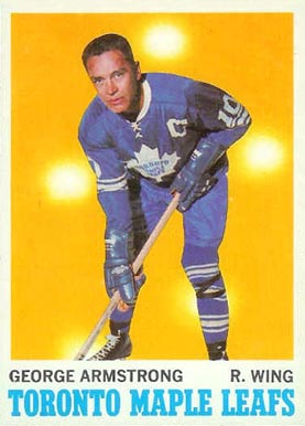 1970 O-Pee-Chee George Armstrong #113 Hockey Card