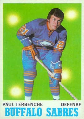 1970 O-Pee-Chee Paul Terbenche #123 Hockey Card