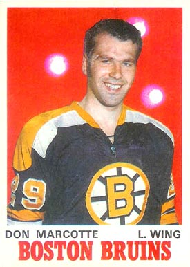 1970 O-Pee-Chee Don Marcotte #138 Hockey Card