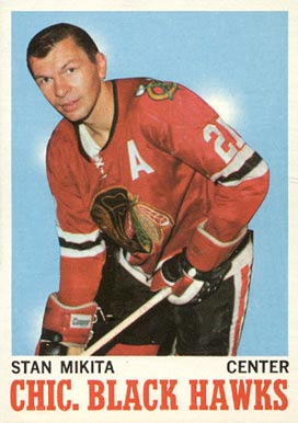 1970 O-Pee-Chee Stan Mikita #20 Hockey Card