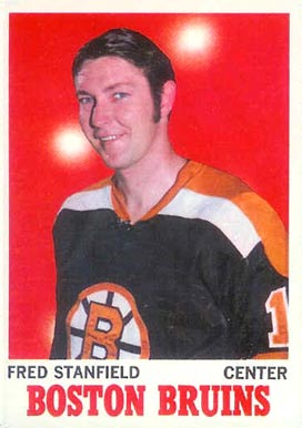 1970 O-Pee-Chee Fred Stanfield #5 Hockey Card